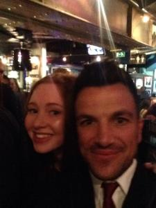 Selfie with Peter Andre